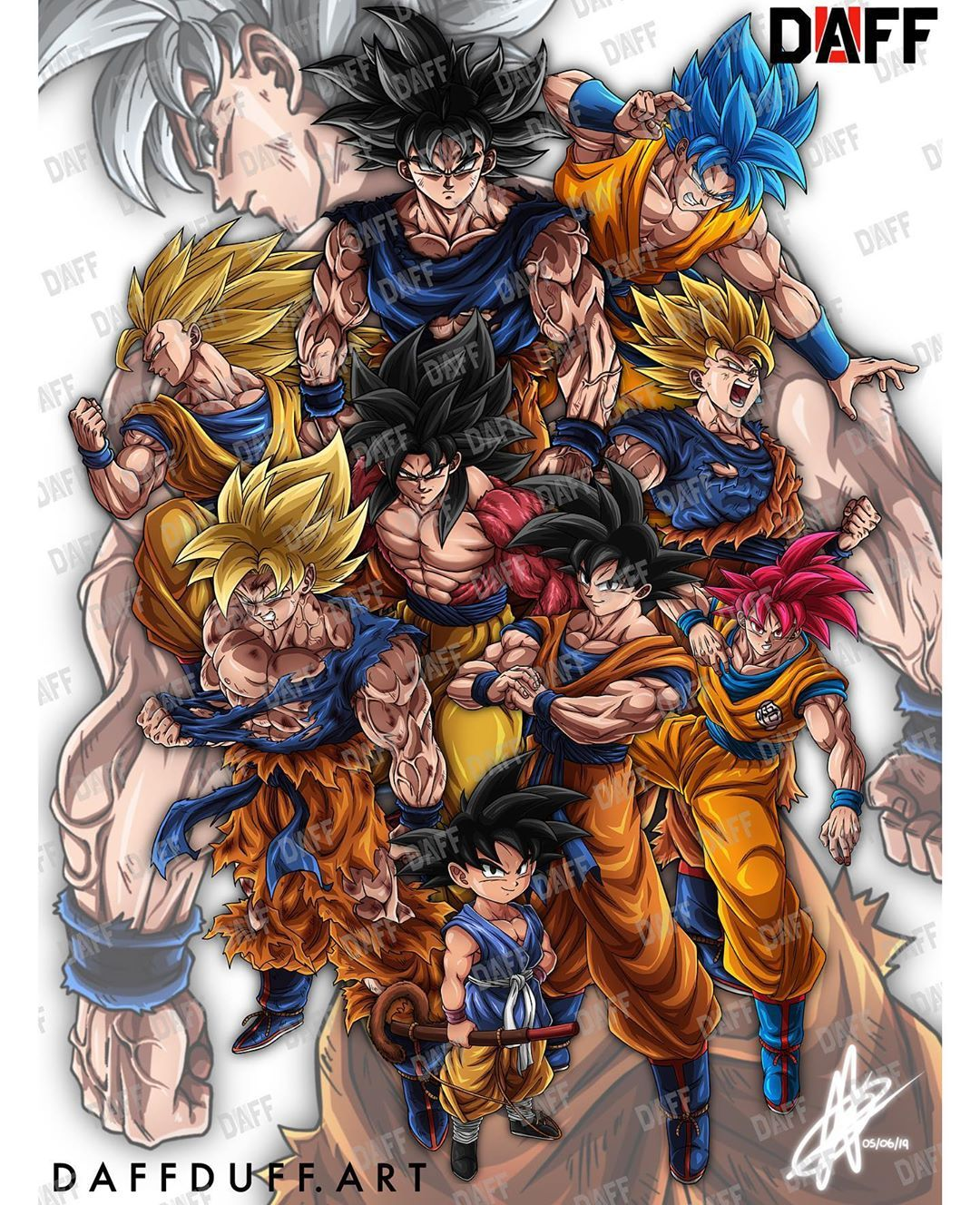 """Daffduff on Instagram: """"The legacy of Goku. 🐉🐉🐉 . . A closer look at the giveaway Poster. As well as the chance to announce that I've officially started taking…"""""""