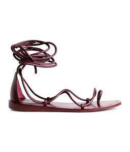 bde50f2d5399 h-m-leather-gladiator-sandals-shoes-leder-romer-sandalen-burgundy-all-size