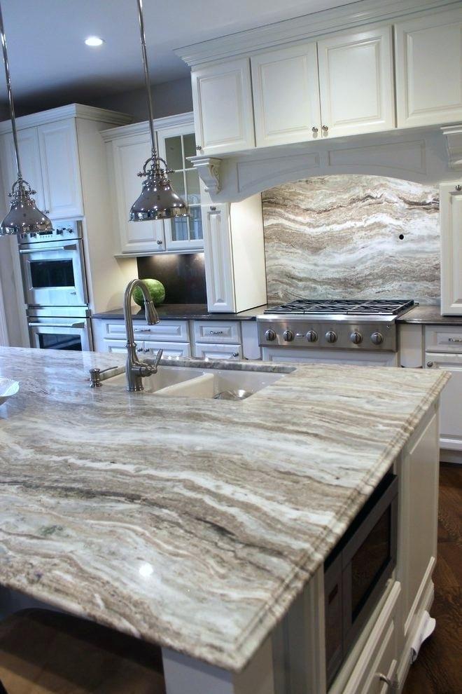 Brown Granite Kitchen Traditional ... | White kitchen ...