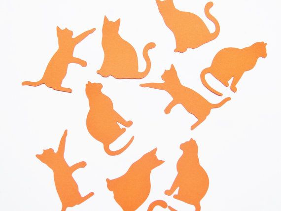 Cat Confetti  Pick your colors. Birthday party by ThePaperPugs