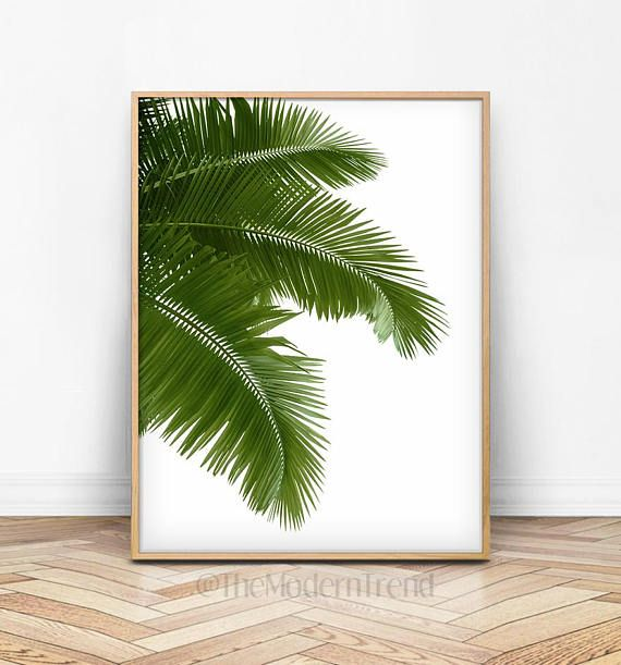 Print This Modern Art Work Right At Home Or At A Local Print Shop They Are Perfect For Styling Your Home Or Offi Leaf Wall Art Palm Tree Art Tropical Wall