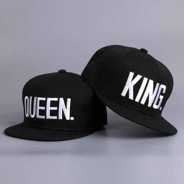 14f0bf85087 King and Queen Baseball Caps Couple matching baseball caps black King and  Queen