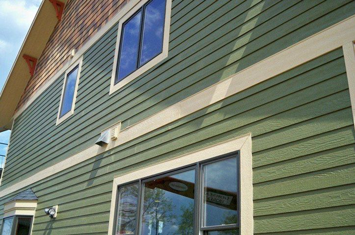 Find Inspriation For Siding Color Combinations This Home Features Diamond Kote Olive 8 Inch Lap Siding With S Vinyl Siding Installation Exterior Siding Siding