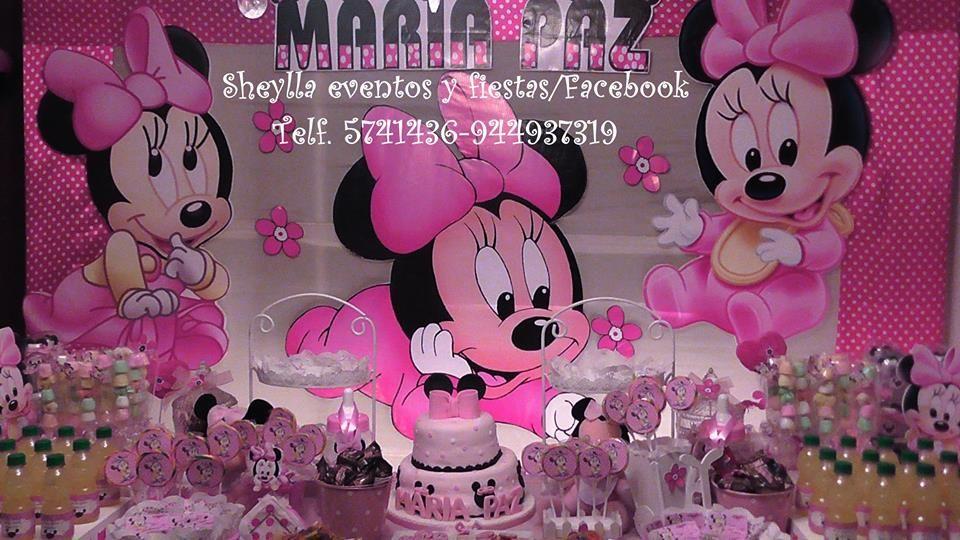 Decoración  Minnie. mouse.  bebe.Lima-Perú Correo: sheylla_eventos y fiestas@hotmail Telf.5741436-944937319 Sheylla eventos y fiestas/facebook