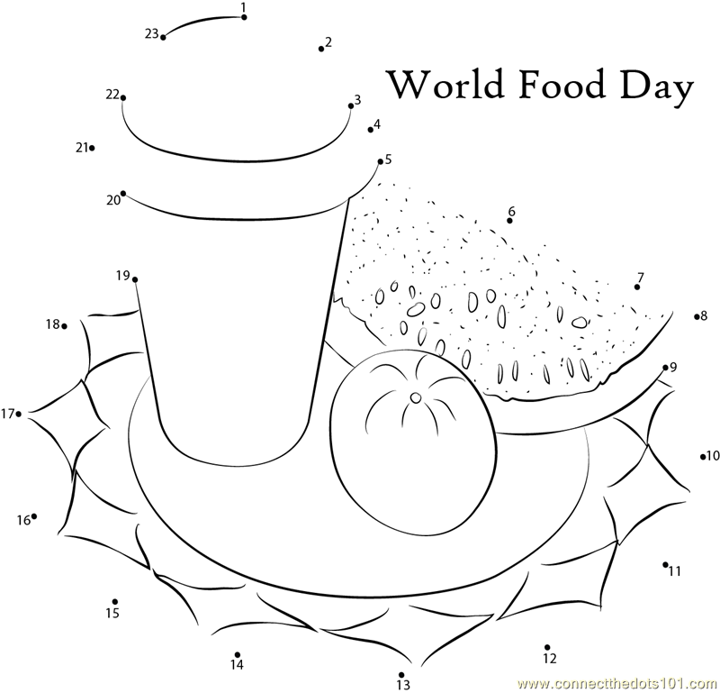 World Food Day dot to dot printable worksheet - Connect The Dots ...