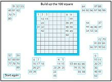 Build up the 100 square puzzle - good SmartBoard activity.