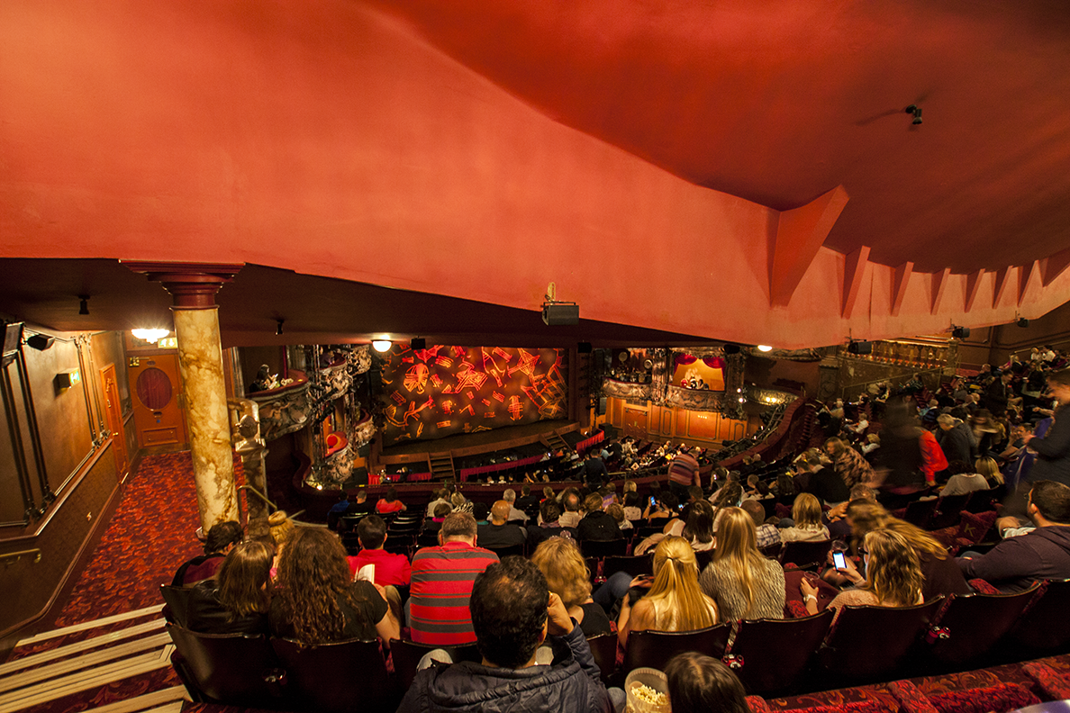 the lyceum theatre has almost double the capacity of other
