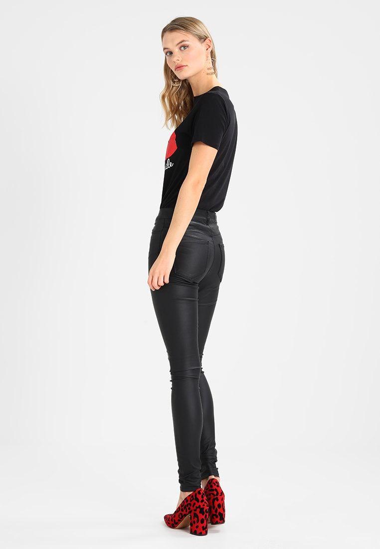 Vero Moda VMSEVEN SMOOTH COATED PANTS - Pantalones - black - Zalando.es 34eb9244c75c