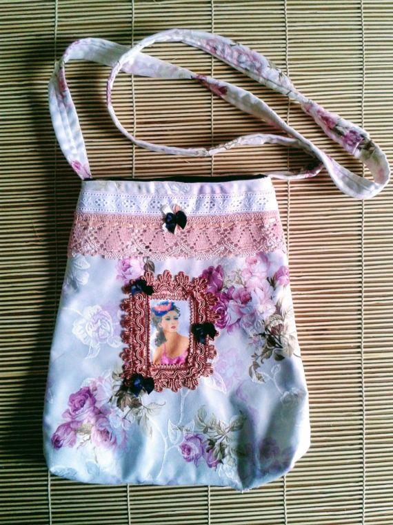 Vintage shoulder bag Shabby chic tote bag por ShabbyChicVintageBag