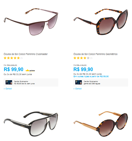 Óculos de Sol Colcci Femininos - Vários Modelos  lt  lt  R  9990 em 334cff8b7f