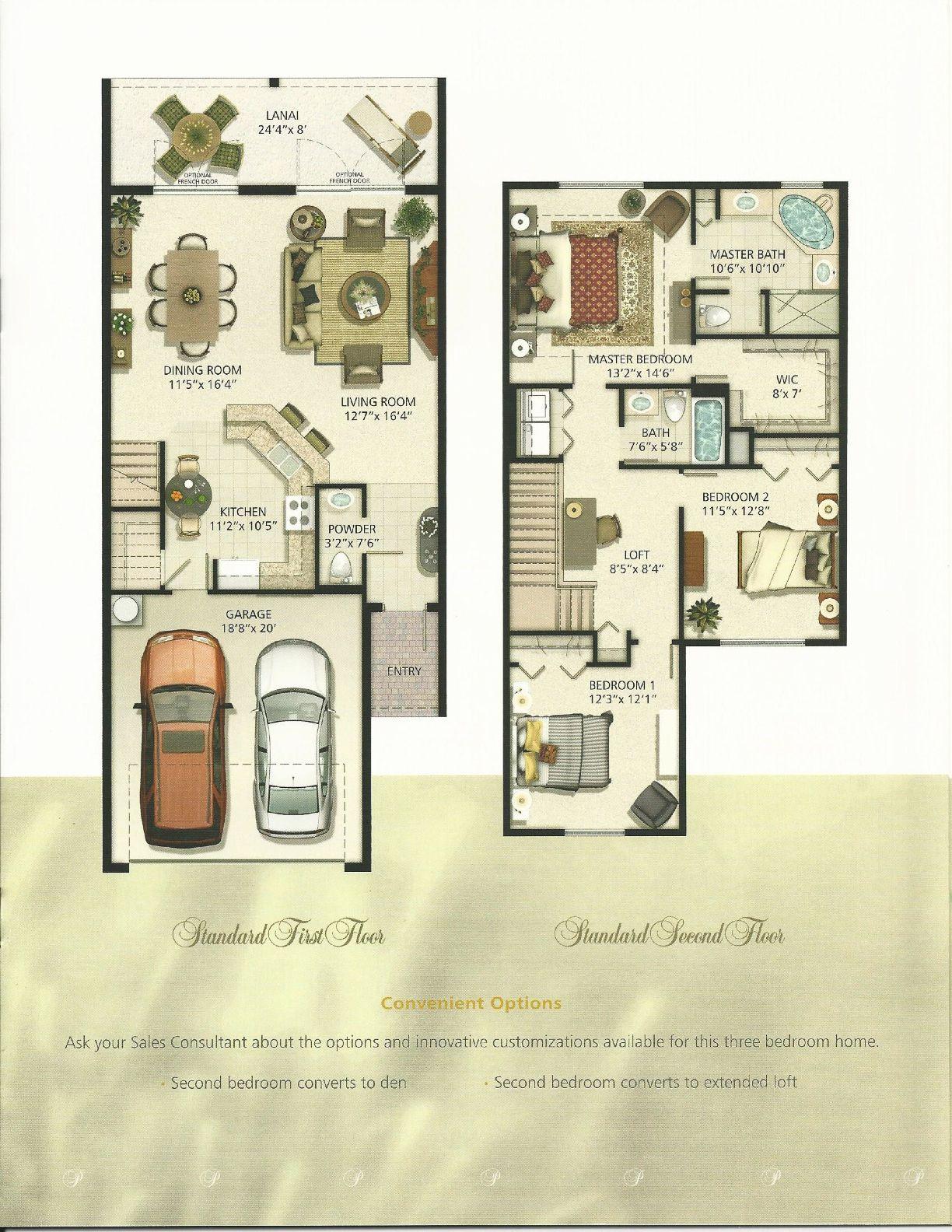 Portofino Meadows Ambrosia Floor Plan In Fl Floor Plans Portofino Lanai