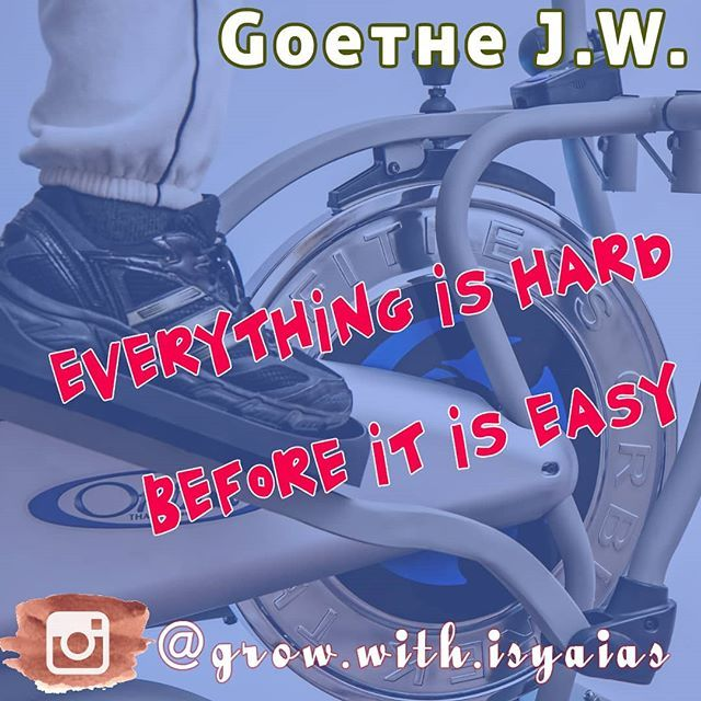 Everything is hard before it is easy  - Goethe J W  #quote