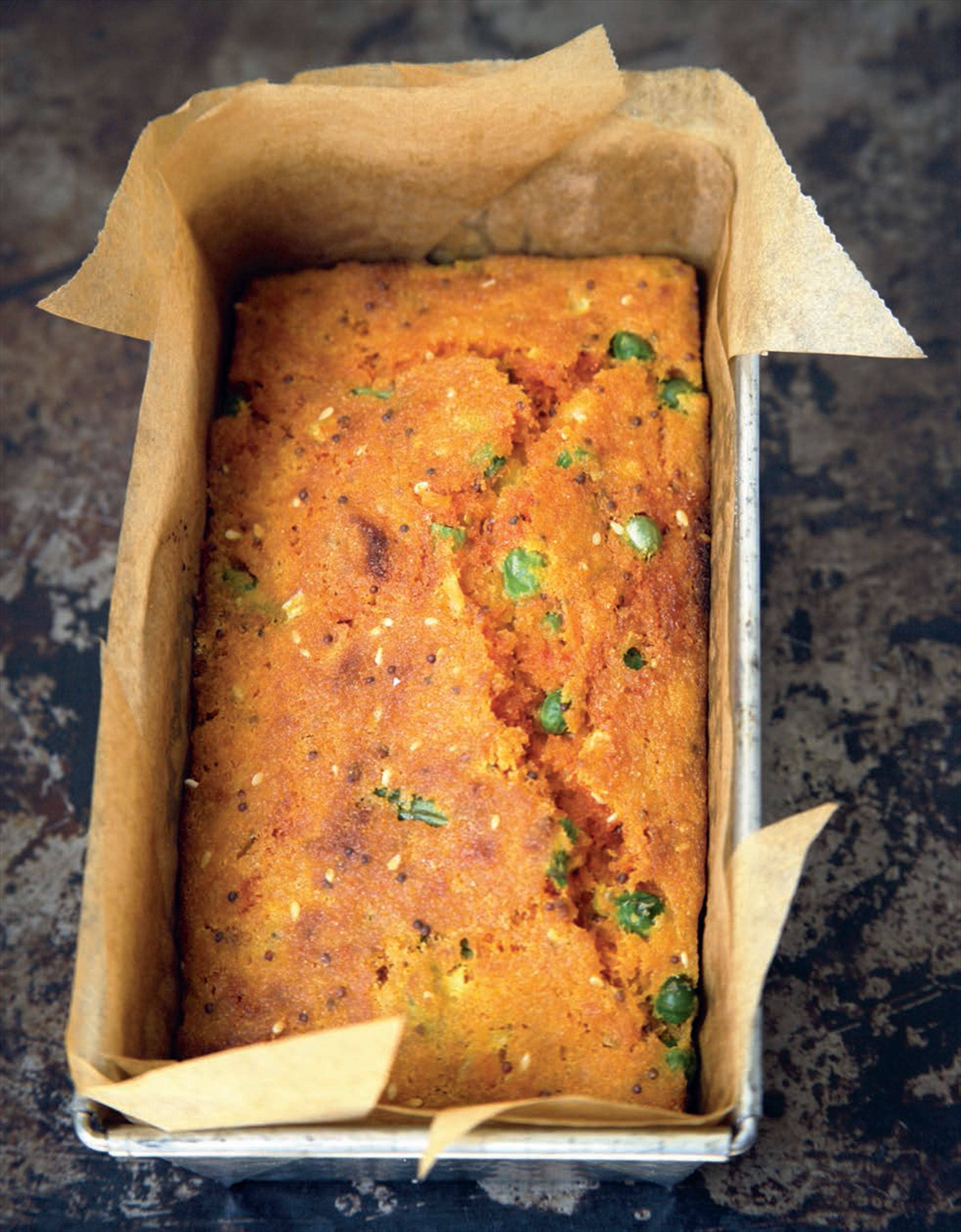 Savoury semolina cake recipe from indian food made easy by anjum savoury semolina cake recipe from indian food made easy by anjum anand cooked forumfinder Images