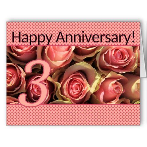 Happy 3rd Anniversary Roses Third Wedding Anniversary Happy 3rd Anniversary 3rd Wedding Anniversary