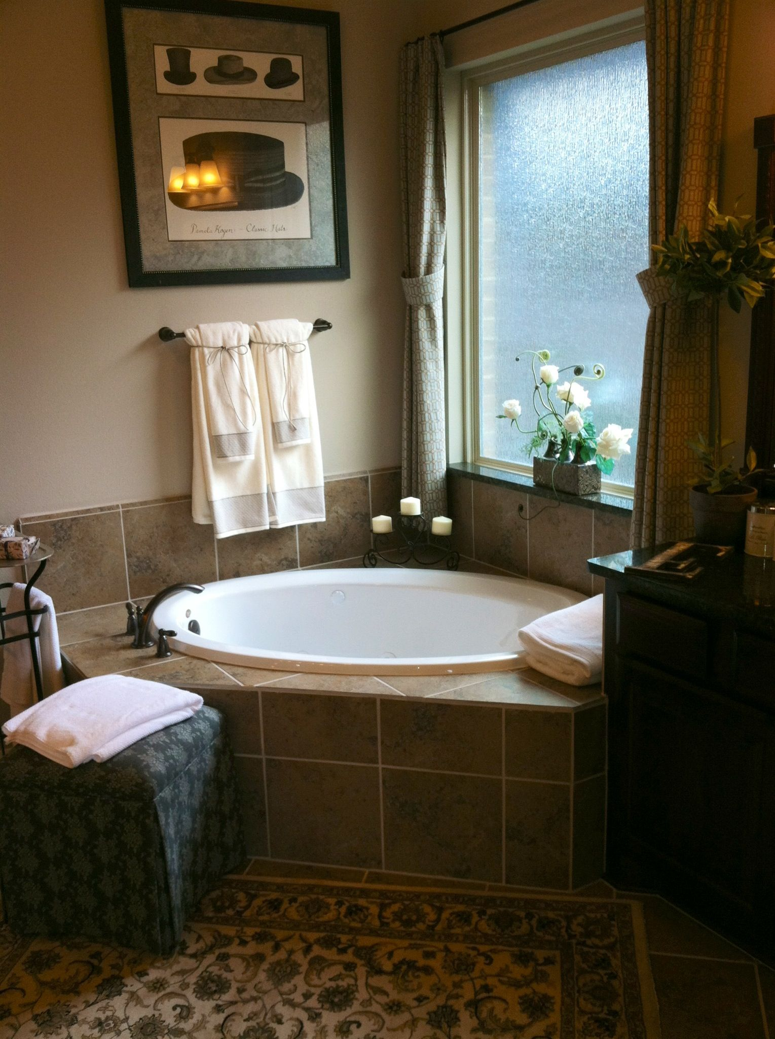 Love the separate tub in the corner... | Bathrooms | Pinterest ...