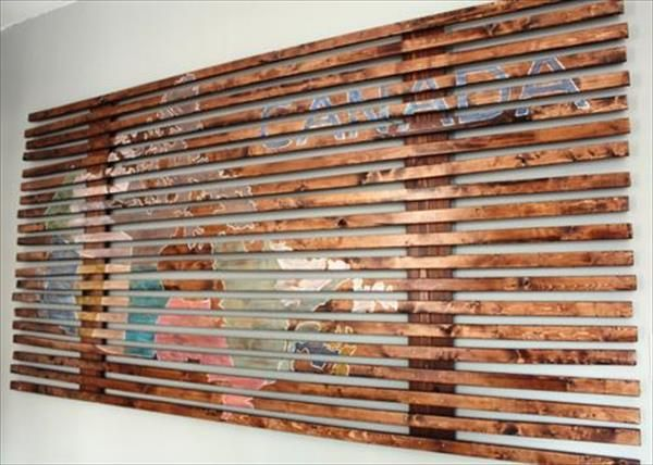 Wood Pallet Wall Art eye catching diy wood pallet wall art | pallet wall art, pallets