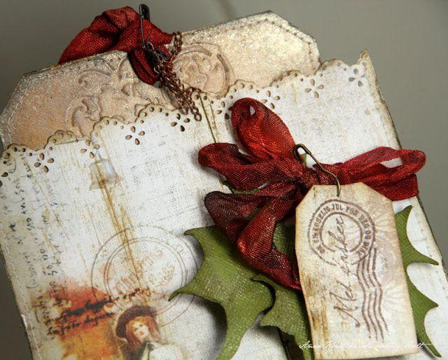 Christmas theme:  Anne's paper fun: Big tag # 10 size & envelope