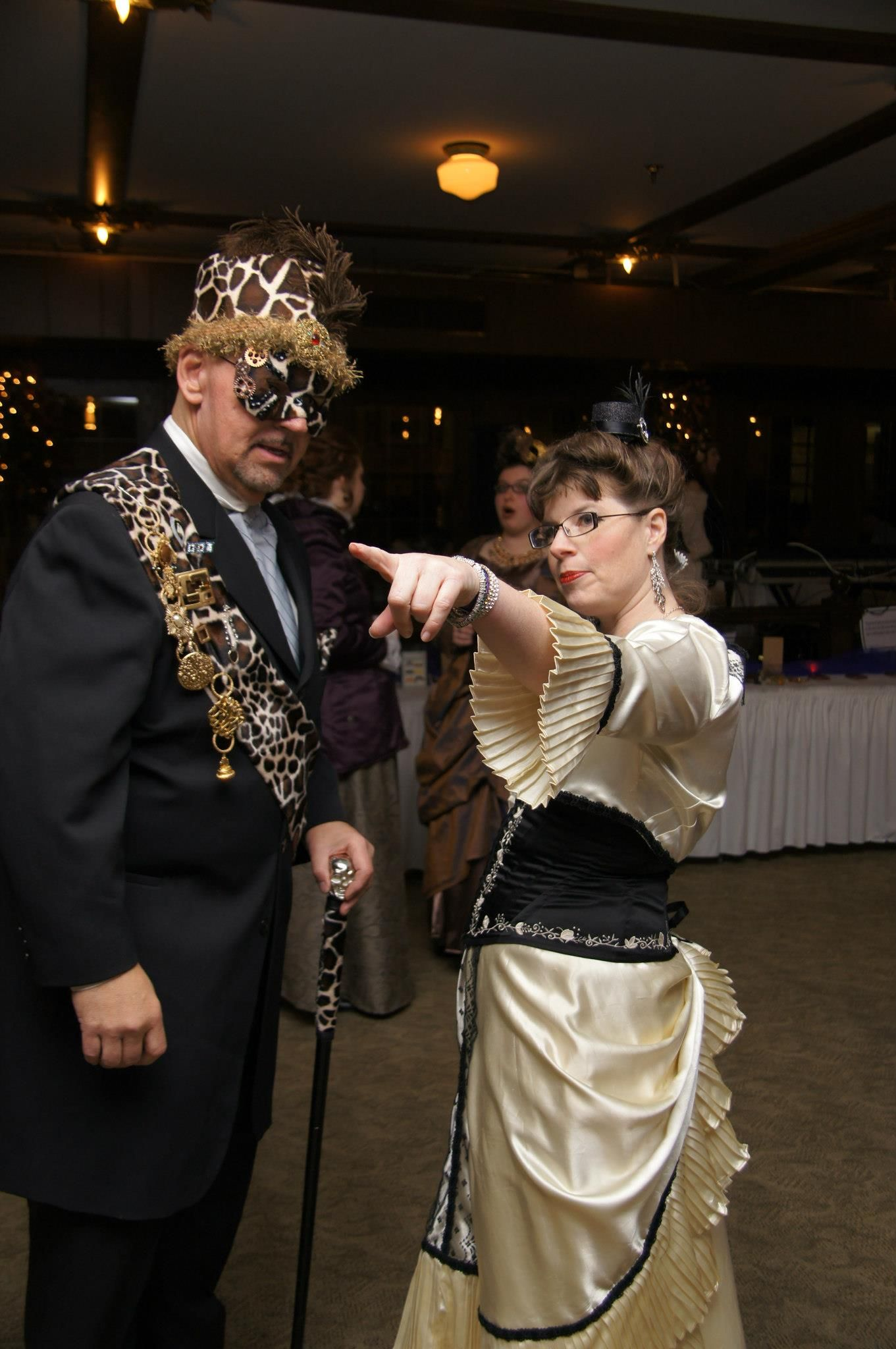 I hosted a Steampunk ball! Photo links to my blog, wherein I wax eloquent about my steamy, seedy adventure. Photo by Brenda Havens. #steampunk