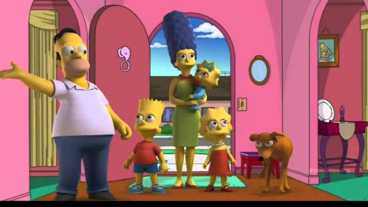 The Simpsons Meet Alternate Versions Of Themselves In The Style Of