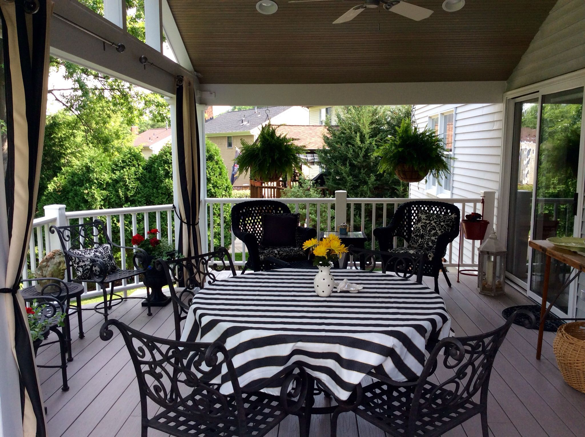 Large, open covered porch