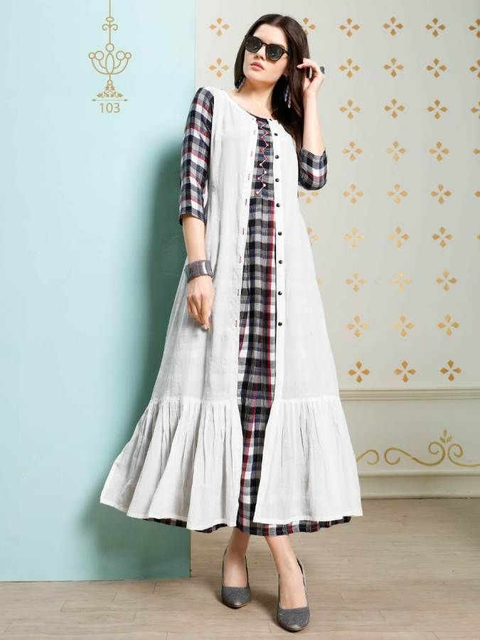 Specification : NAME :Banwery Stella TOTAL DESIGN :4 PER PIECE RATE : 680/- FULL CATALOG RATE : 2720/-+(5%GST) + Shipping Charge WEIGHT :3 SIZE :M | L | XL | XXL Type :Designer Kurtis MOQ :Minimum 4 Pcs. Fabric :Rayon Fabric pure weaving chex with designer patterns | 49 to 51 inch length #charge