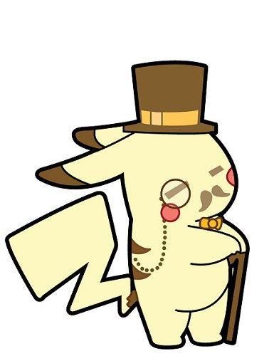 Pikachu pokemon like a sir sticker cute funny gentlemon anime manga decal steampunk usa 3 99
