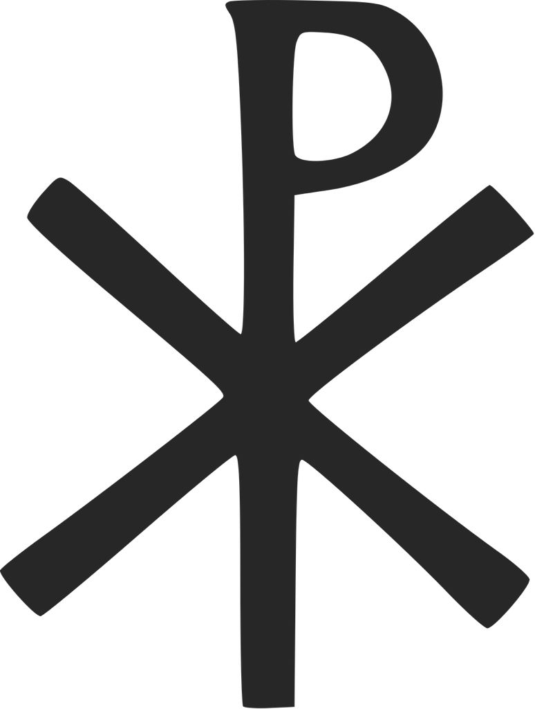 Chi Rho Symbol For Christ Adopted By Constantine I It Is Formed By