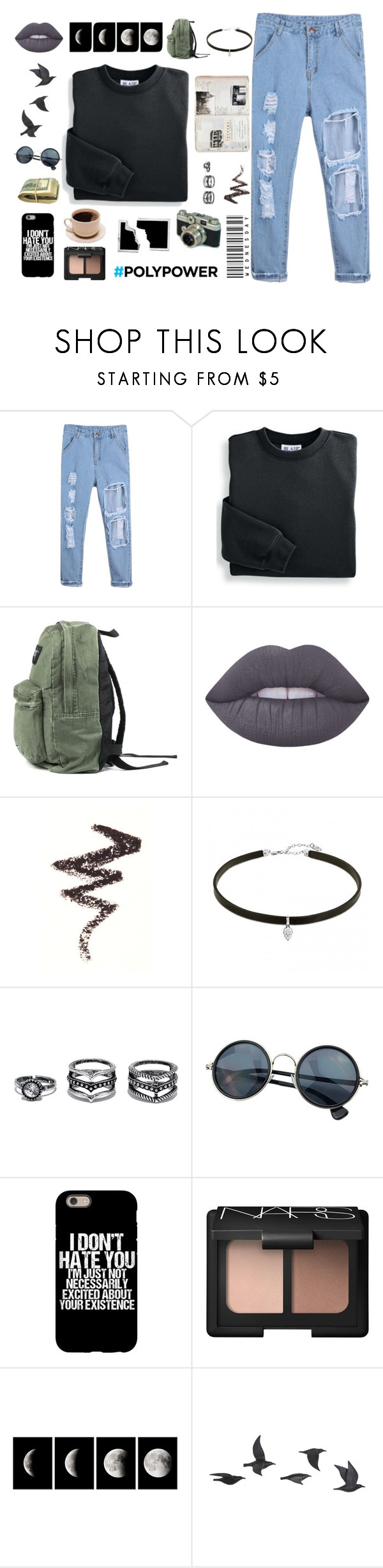"""""""Untitled #92"""" by flowerpower-795 ❤ liked on Polyvore featuring Blair, Lime Crime, NYX, LULUS, NARS Cosmetics, WALL and Jayson Home"""