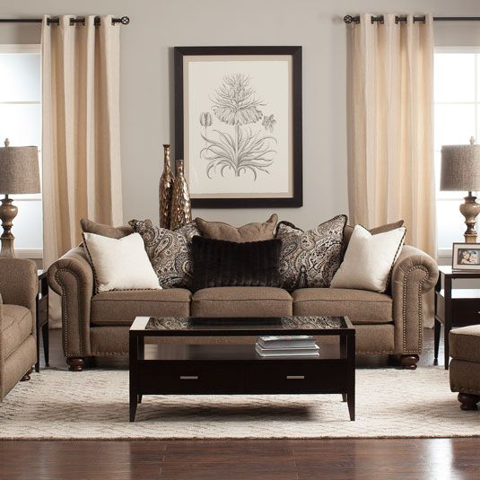 Buxton Living Room Collection Brown Living Room Decor Brown Living Room Brown Home Decor