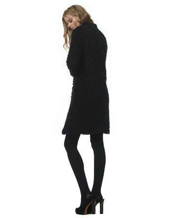 Edie - black - Faux shearling coat | LaDress