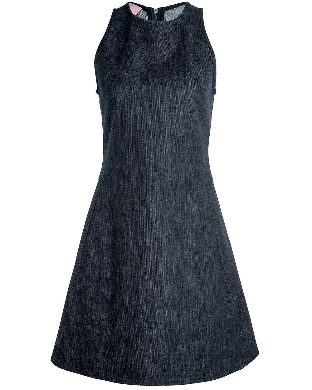 GiambaDenim A-Line Dress Fit and flare denim A-line dress