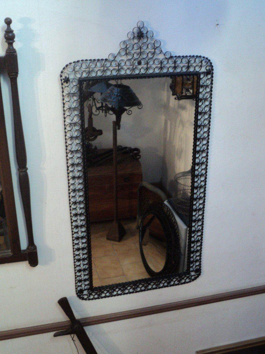 Espejo Con Marco Antiguo Hierro Artístico. Antigua Saudade - $ 530 ...