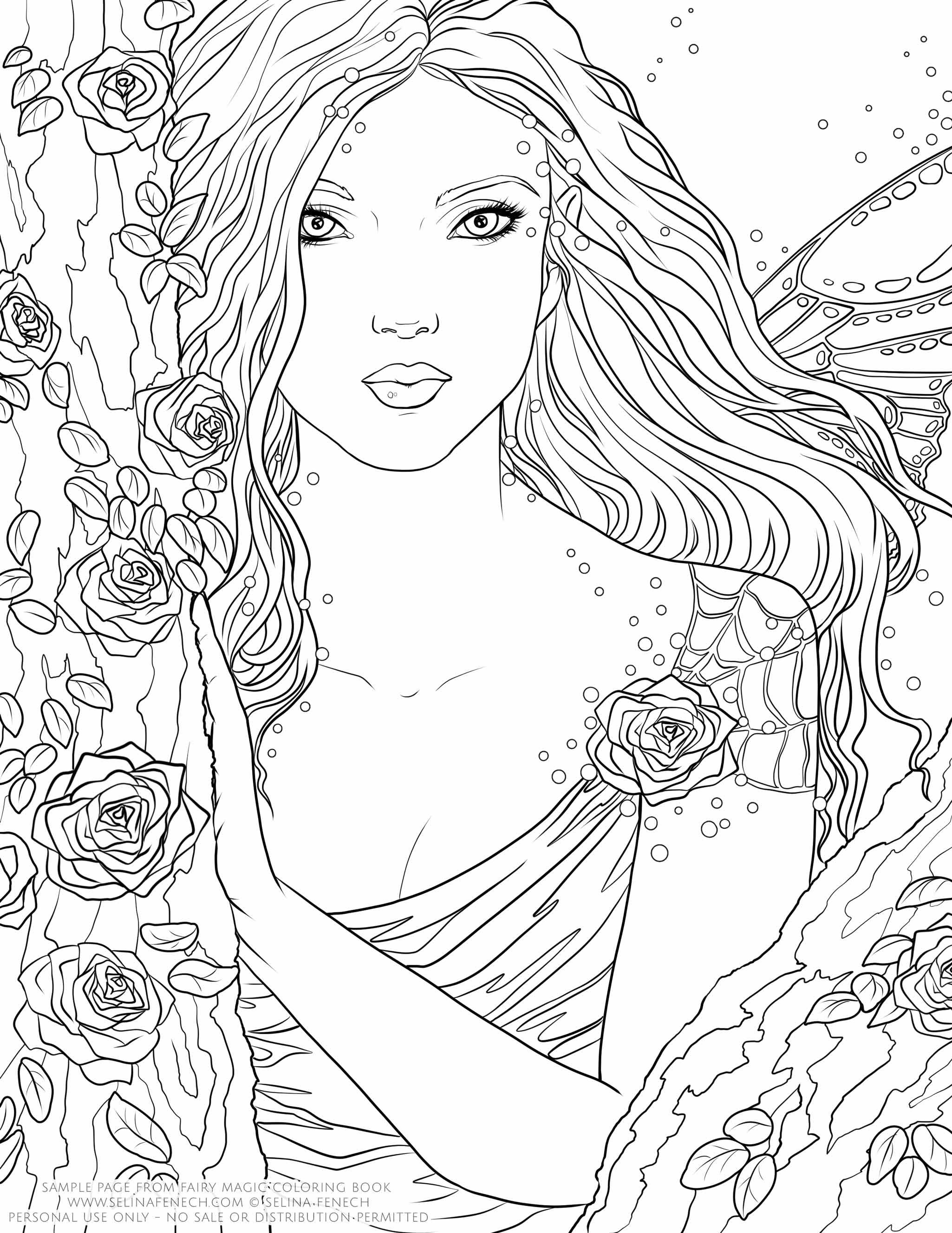 Pin By Erica Nicole On Color Me Crazy Fairy Coloring Coloring
