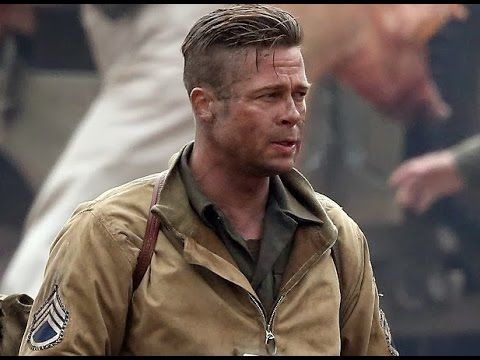 Brad Pitt Honored To Be In Presence Of U S Military During Fury Fil Brad Pitt Brad Pitt Fury Brad Pitt Hair