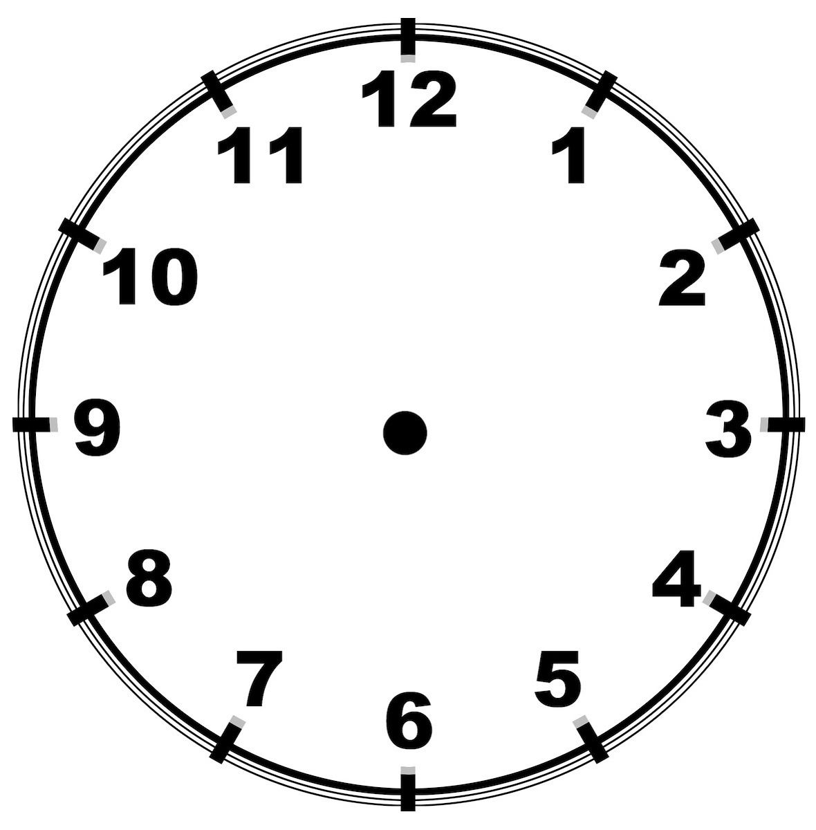 Blank Clock Worksheets In