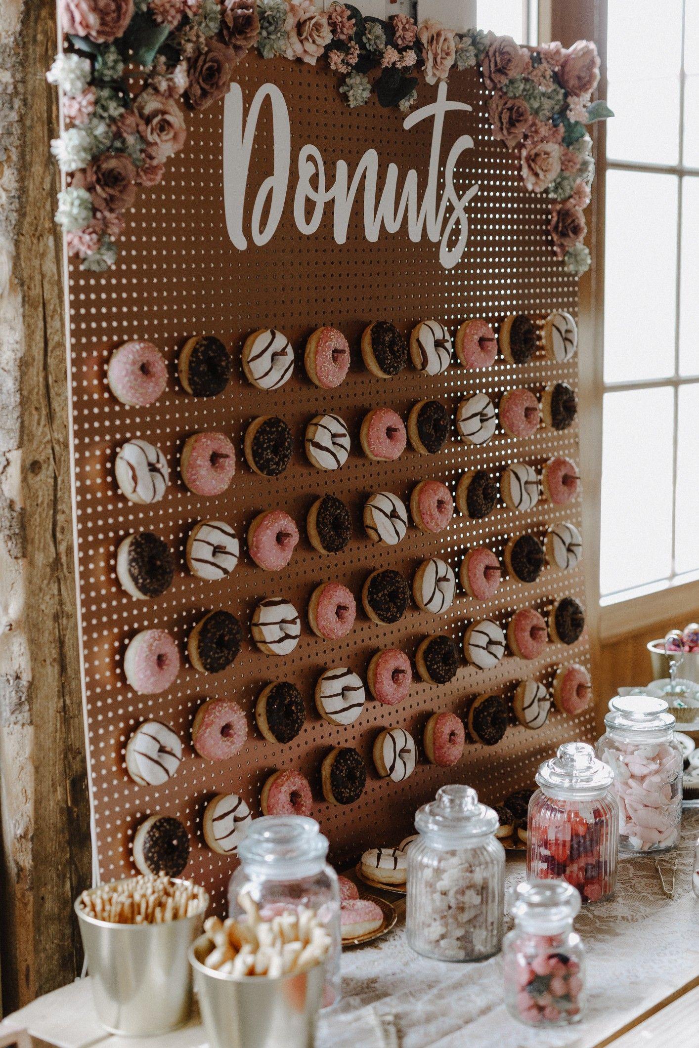 Boho Wedding Boho Hochzeit Candy Bar Donut Wall Donut Wand Hochzeit Servietten Hochzeit Hochzeit
