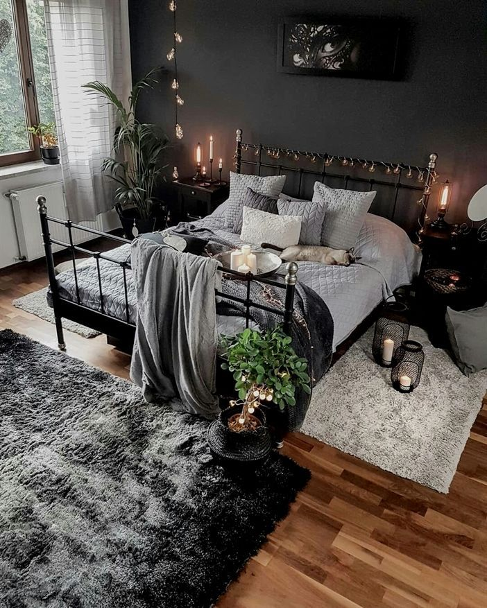 50 Sleigh Bed Inspirations For A Cozy Modern Bedroom: My Living Interior Design #Bedroom