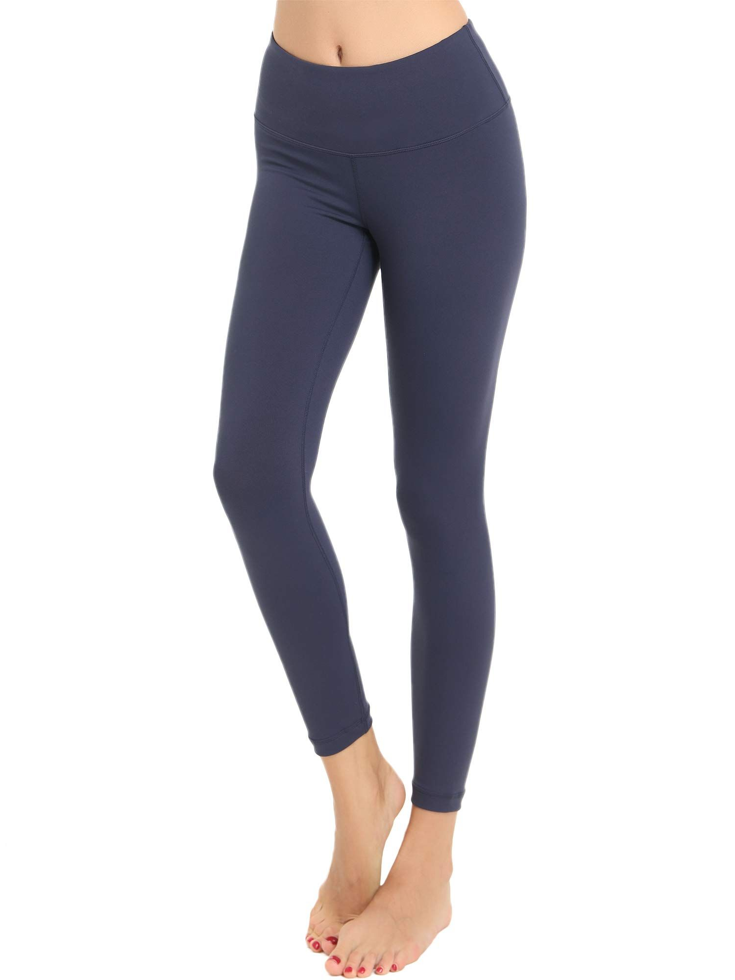 f1b3ada6d57cc Amorbella Women Yoga Pants High Waist Tummy Control Workout Yoga Leggings  Navy Medium ** Want to know more, click on the image. (This is an affiliate  link)