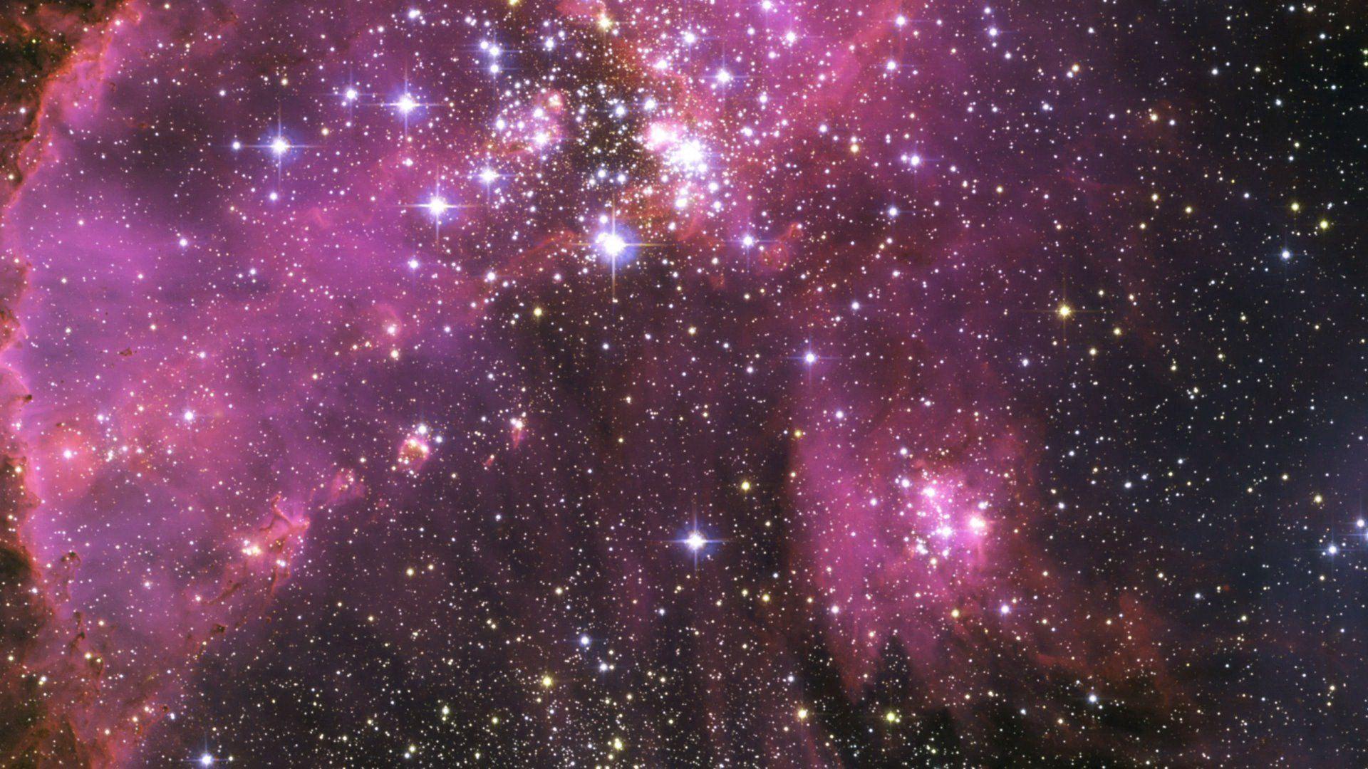 Purple Space Wallpaper PC En