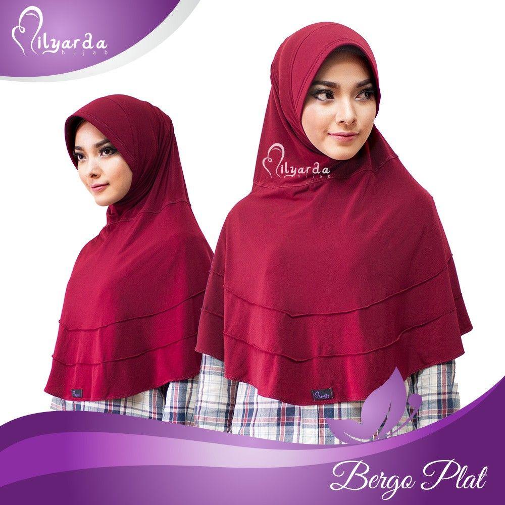 Nama hijab Bergo plat Tanpa penitik dan jarum pentul