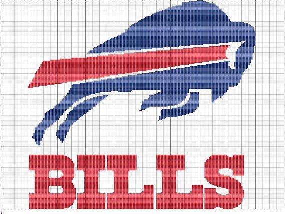 Crochet Buffalo Bills Graph Pattern Crochet by FADesignCharts Crochet Pin...