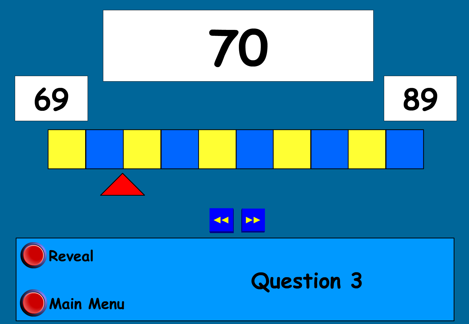Virtual Counting Stick Find The Number On The Number Line