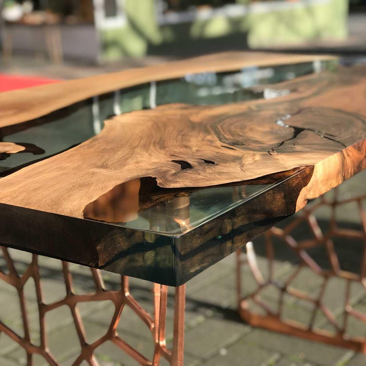 Image Result For Walnut Epoxy Tables Natural Wood Furniture Natural Wood Table Wood Table