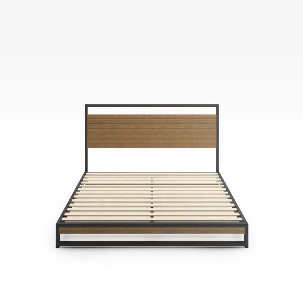 Suzanne Metal and Wood Platform Bed Frame in 2020