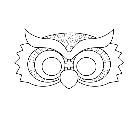 photograph about Free Printable Masks identified as Obtain this Evening Owl Printable Coloring Mask and other