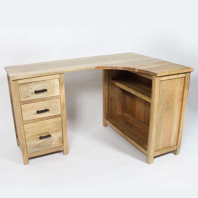 bureau d angle en bois massif bt282