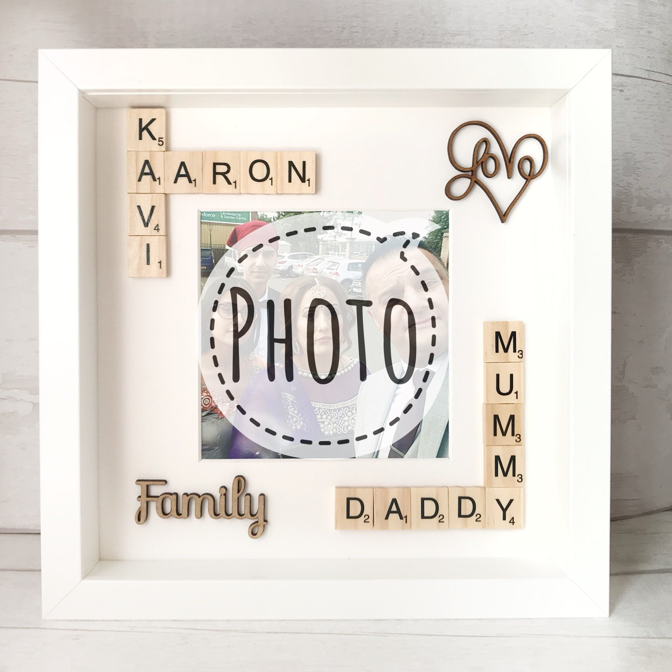Family Personalised Photo Frame Gift Photo Frame Gift For Parents Love This Photo Frame Gift Idea Photo Frame Gift Personalized Photo Frames Photo Frame