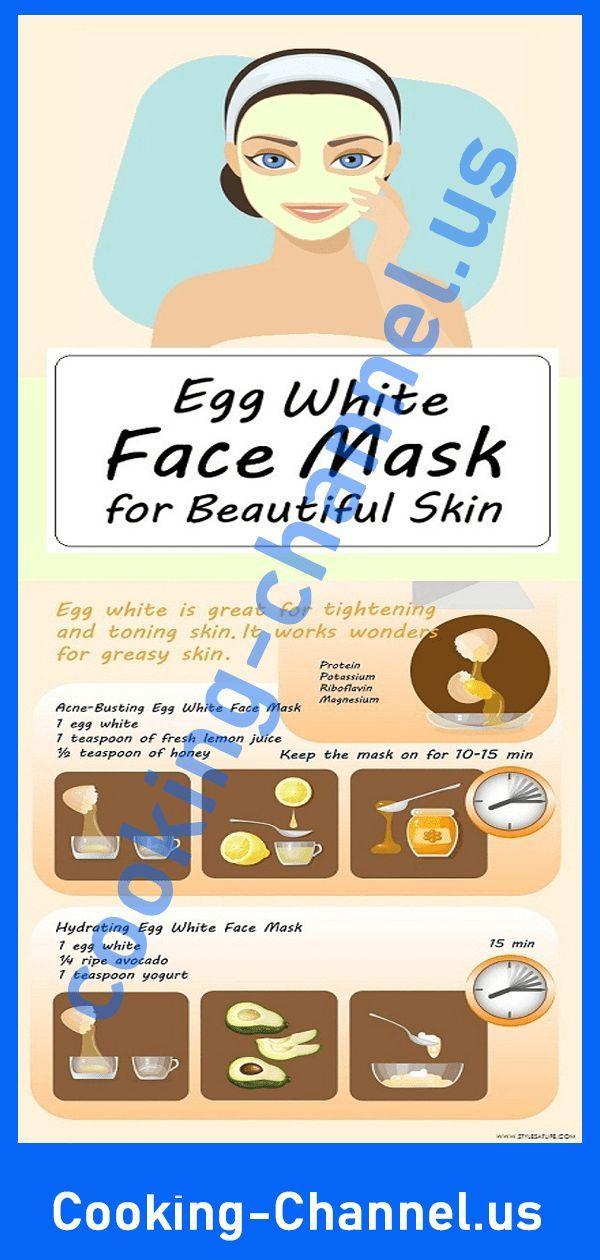 DIY Recettes de masque facial blanc d'oeuf pour une belle