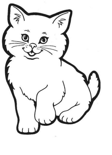 Image 33772 coloriage de coloriage de chat dessins chats - Chat dessin noir et blanc ...