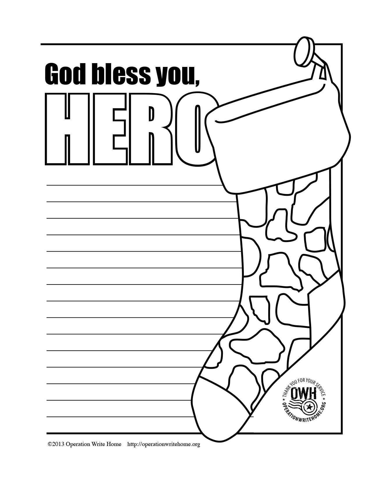 Coloring Pages Operation Write Home Military Christmas Cards Military Christmas Christmas Cards Kids